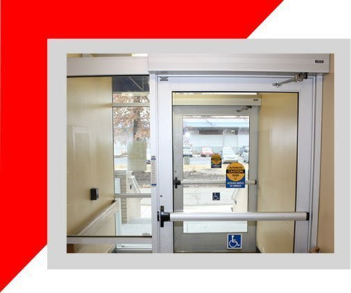 ADA accessible commercial swing door installation