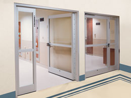ICU Swing Door Installation in a hospital